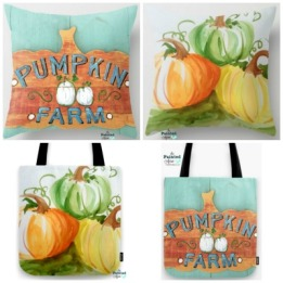 pumpkin pillows and totes 2